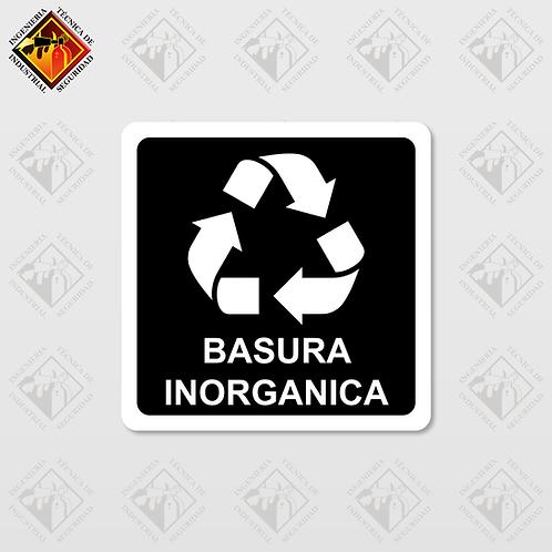 """Señal de """"BASURA INORGANICA"""""""