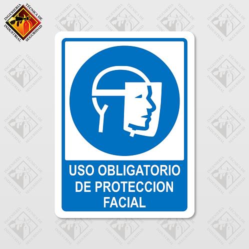 """Señal de """"OBLIGATORIO PROTECCIÓN FACIAL"""""""