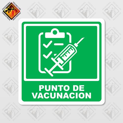 """Señal de """"PUNTO DE VACUNACIÓN"""""""