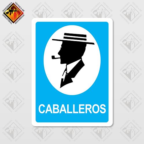 """Señal de """"CABALLEROS"""""""
