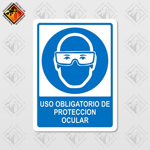 """Señal de """"OBLIGATORIO PROTECCIÓN OCULAR"""""""