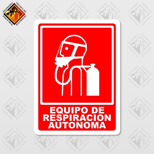 """Señal de """"EQUIPO DE RESPIRACIÓN AUTÓNOMA"""""""