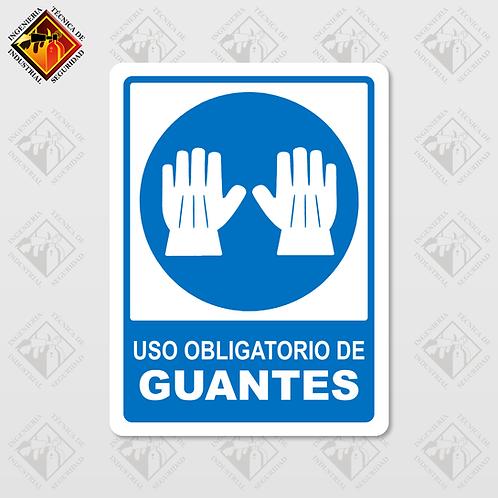 """Señal de """"OBLIGATORIO GUANTES"""""""