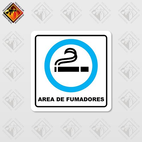 """Señal de """"AREA DE FUMADORES"""""""