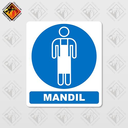 "Señal de ""MANDIL"""