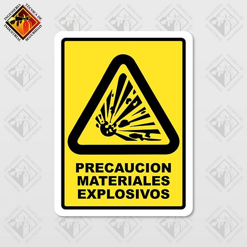 """Señal de """"MATERIALES EXPLOSIVOS"""""""