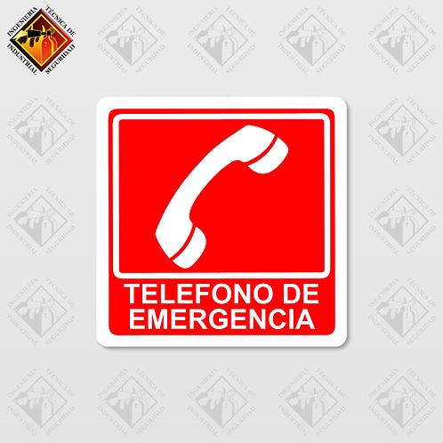 """Señal de """"TELÉFONO DE EMERGENCIA"""""""