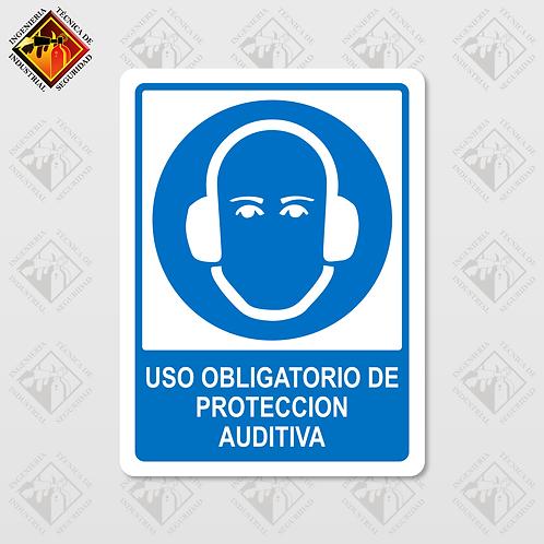 """Señal de """"OBLIGATORIO PROTECCIÓN AUDITIVA"""""""