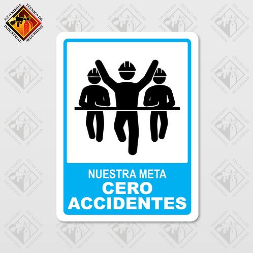 """Señal de """"CERO ACCIDENTES"""""""