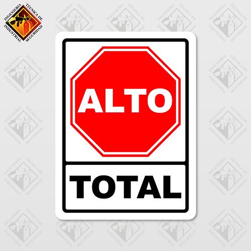 """Señal de """"ALTO TOTAL"""""""