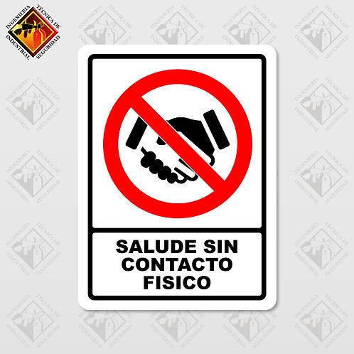 """Señal de """"SALUDE SIN CONTACTO"""""""