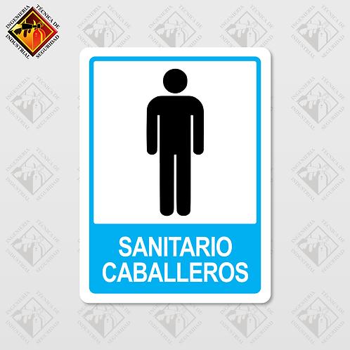 """Señal de """"SANITARIO CABALLEROS"""""""