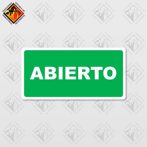 """Señal de """"ABIERTO / CERRADO"""""""