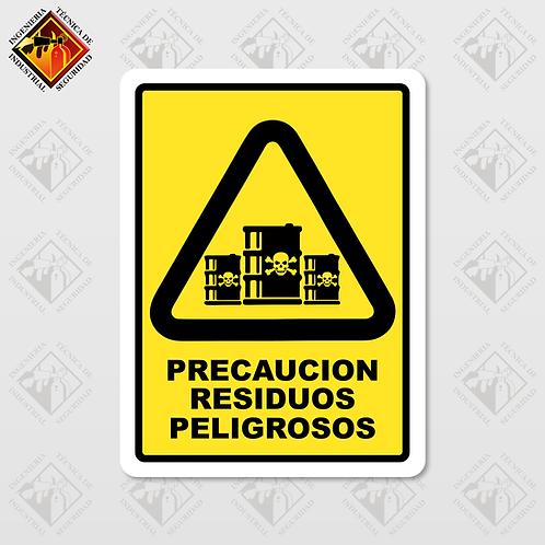 """Señal de """"RESIDUOS PELIGROSOS"""""""