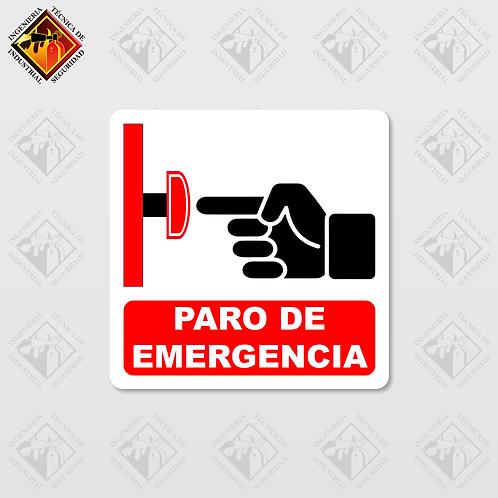 """Señal de """"PARO DE EMERGENCIA"""""""