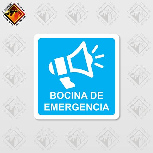 "Señal de ""BOCINA DE EMERGENCIA"""
