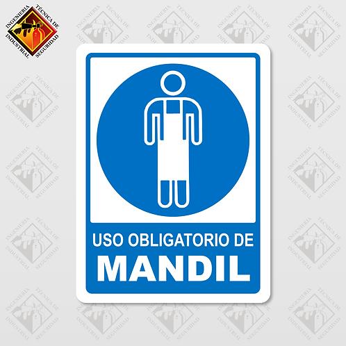 """Señal de """"OBLIGATORIO MANDIL"""""""