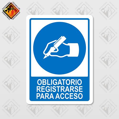 """Señal de """"OBLIGATORIO REGISTRARSE"""""""