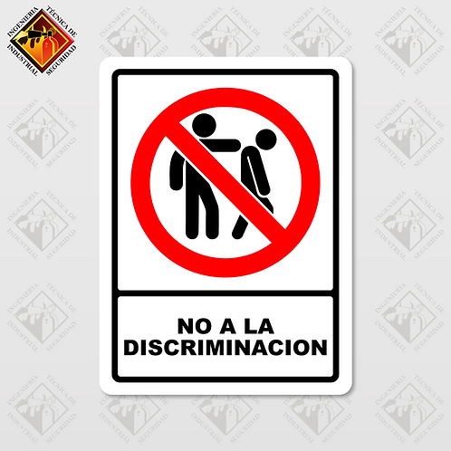"""Señal de """"NO A LA DISCRIMINACIÓN"""""""