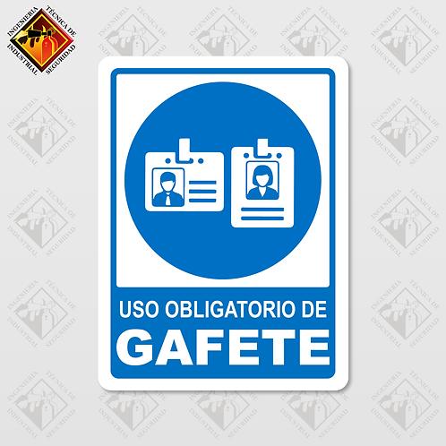 """Señal de """"OBLIGATORIO GAFETE"""""""