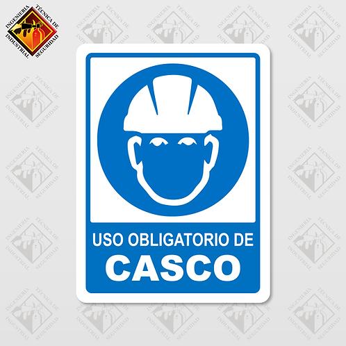 """Señal de """"OBLIGATORIO CASCO"""""""