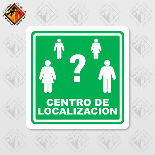 "Señal de ""CENTRO DE LOCALIZACIÓN"""