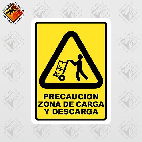 """Señal de """"ZONA DE CARGA Y DESCARGA"""""""