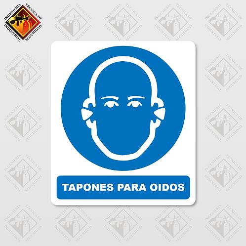 """Señal de """"TAPONES PARA OIDOS"""""""