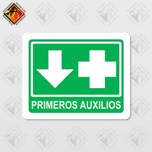 """Señal de """"PRIMEROS AUXILIOS"""""""