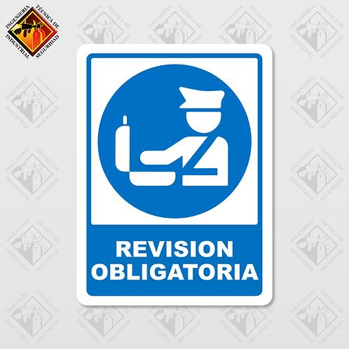 """Señal de """"REVISIÓN OBLIGATORIA"""""""