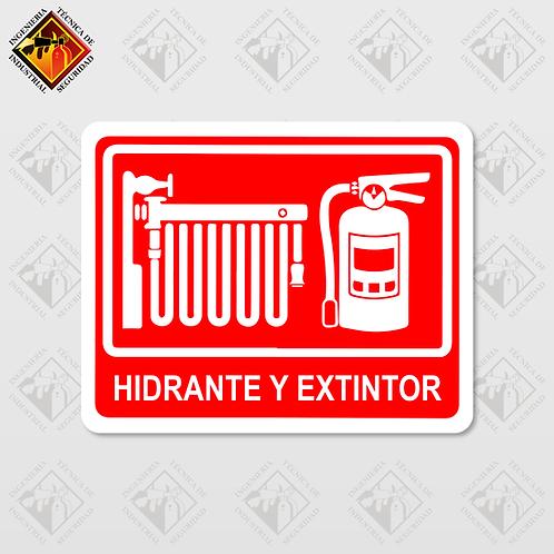 """Señal de """"HIDRANTE Y EXTINTOR"""""""