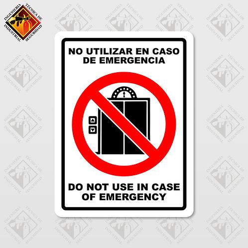 "Señal de ""NO USAR EN CASO DE EMERGENCIA"""