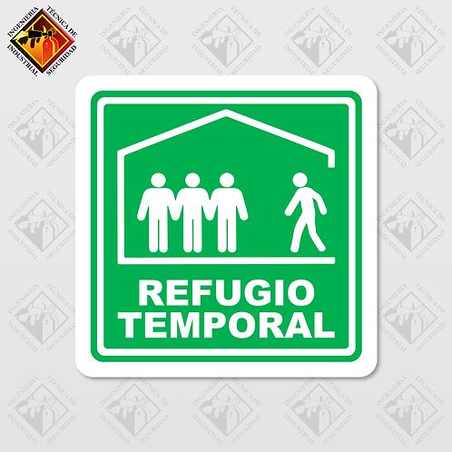"""Señal de """"REFUGIO TEMPORAL"""""""