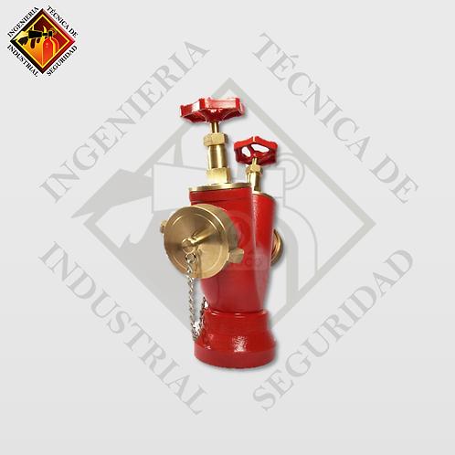 Hidrante de Banqueta Doble Salida Bronce