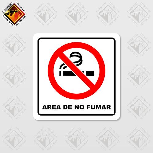 """Señal de """"AREA DE NO FUMAR"""""""