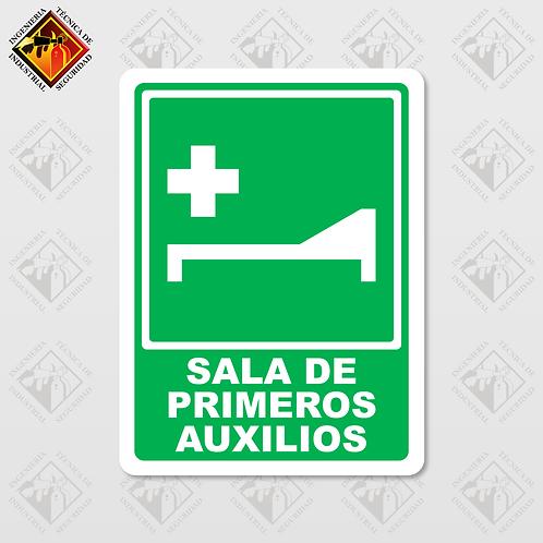 """Señal de """"SALA DE PRIMEROS AUXILIOS"""""""