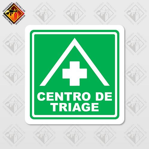 """Señal de """"CENTRO DE TRIAGE"""""""