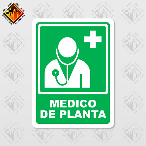 """Señal de """"MEDICO DE PLANTA"""""""