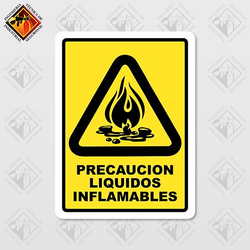 "Señal de ""LIQUIDOS INFLAMABLES"""