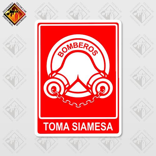 """Señal de """"TOMA SIAMESA"""""""
