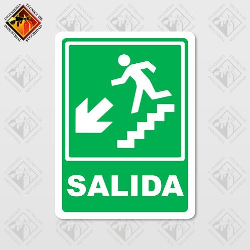 """Señal de """"SALIDA - ABAJO"""""""