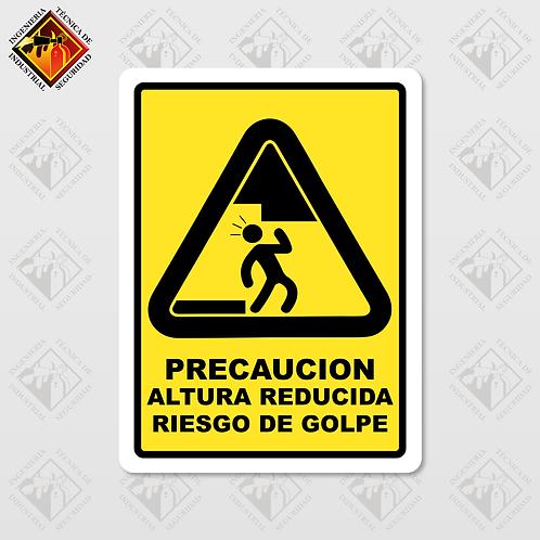 """Señal de """"RIESGO DE GOLPE"""""""