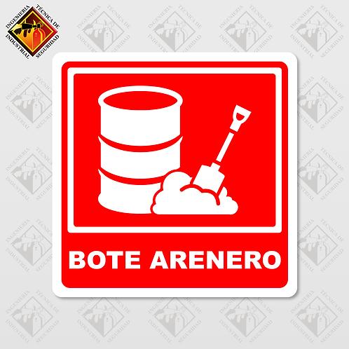 """Señal de """"BOTE ARENERO"""""""