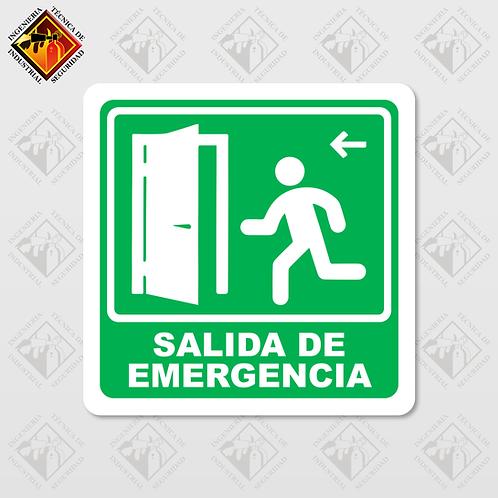 """Señal de """"SALIDA DE EMERGENCIA - IZQUIERDA"""""""