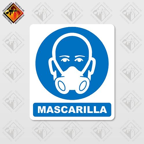 """Señal de """"MASCARILLA"""""""