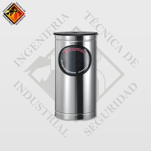 Porta Extintor Cilíndrico CO2 de 10 Lb (Pulido o Espejo)