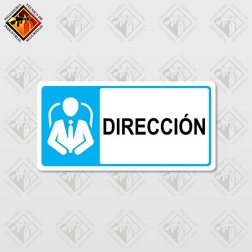 """Señal de """"DIRECCIÓN"""""""