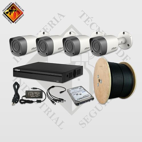 Kits de Video Vigilancia de Cámaras 1080p 15 y 30fps