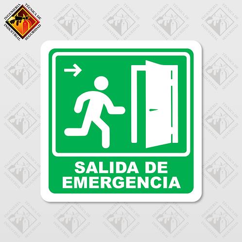 """Señal de """"SALIDA DE EMERGENCIA - DERECHA"""""""