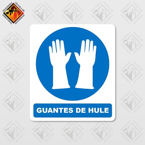 """Señal de """"GUANTES DE HULE"""""""